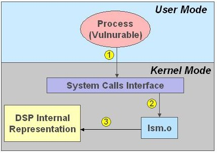 Figure 1: DSM Access Control (Note: DSP = Distributed Security Policy)