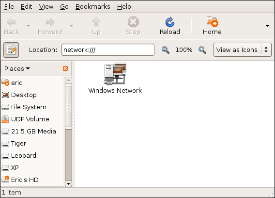 Figure 5: The Network Window