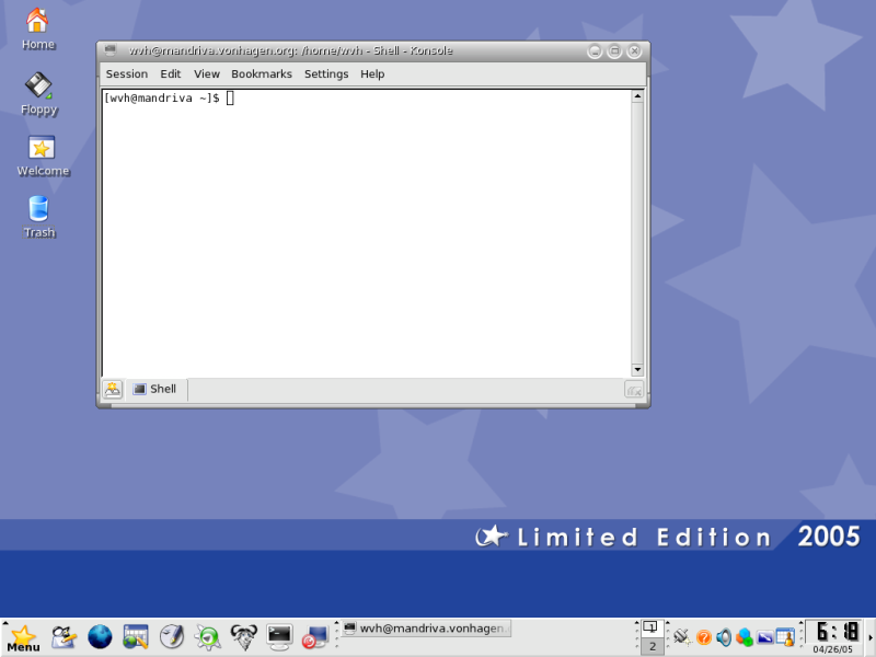 Figure 3: Default Mandriva KDE Desktop Theme