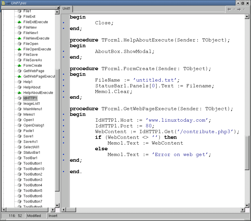 Modifying the editor to retrieve web pages.
