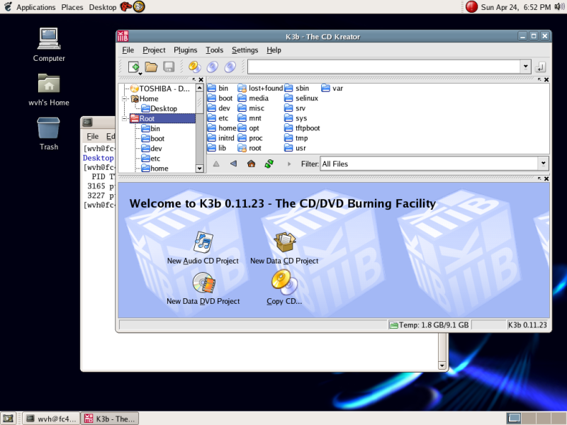 The Excellent k3b CD/DVD Burning Application