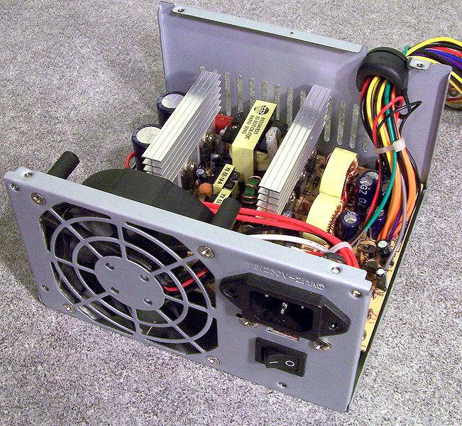 <em>opened power supply</em>