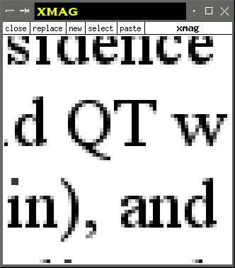 Anti-aliased fonts partially fill in the jagged edges with gray pixels.