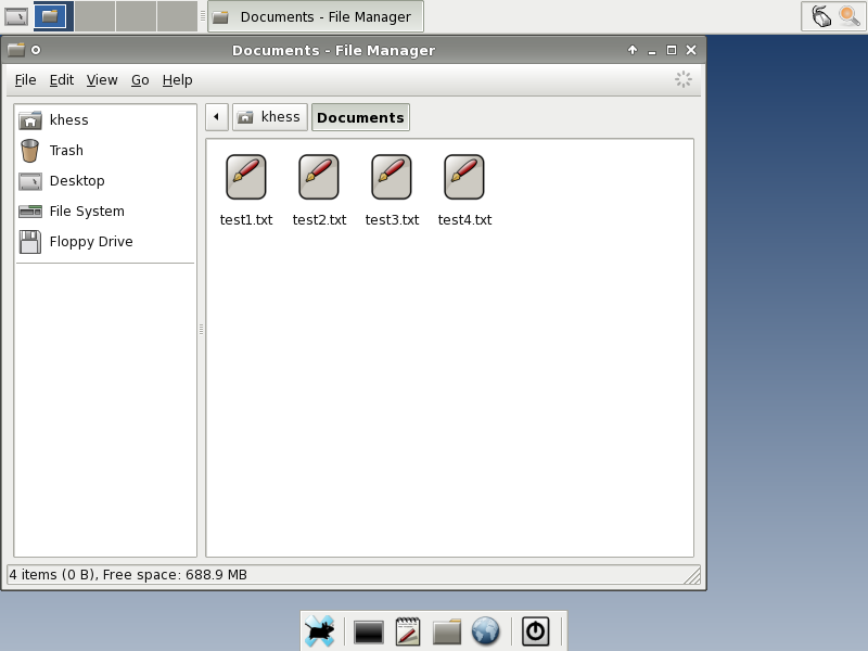 Figure 3: Thunar File Manager and Multiple Files