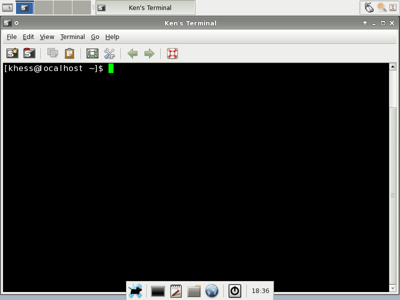 Figure 7: Custom Terminal with Toolbars and Background Color