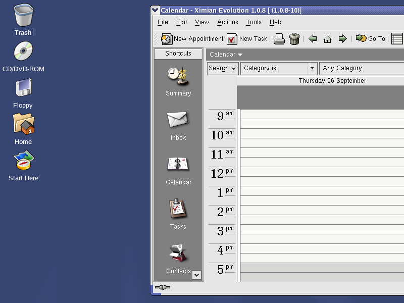 Figure 2. The KDE-Bluecurve desktop.
