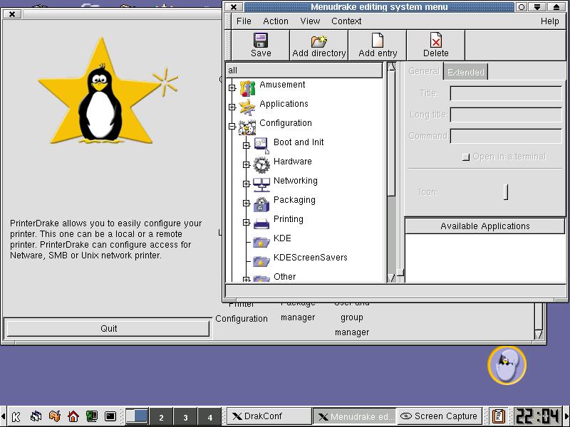 MenuDrake configures the organization of menus.