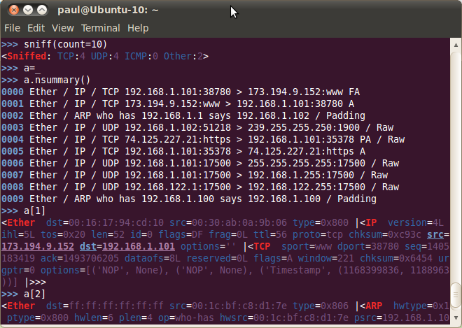 Linux Protects Your Servers with Scapy (part 1) - Basic