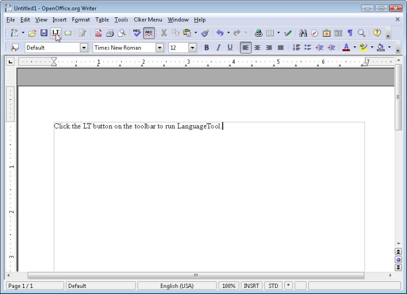 Figure 2, Language Tool button