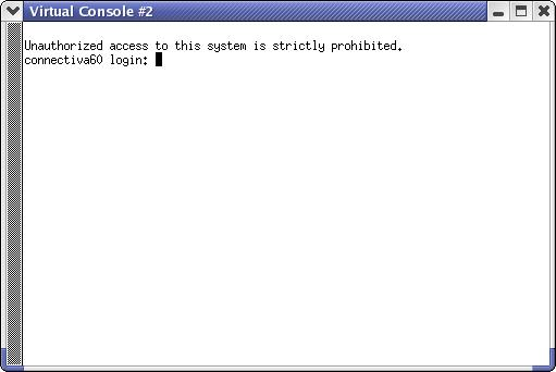 Figure 1. A Connectiva Linux 6.0 UML login console.