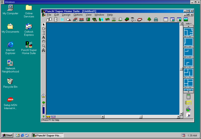 Figure 4. Super Home Suite running under Windows 98, which is running under Win4Lin.