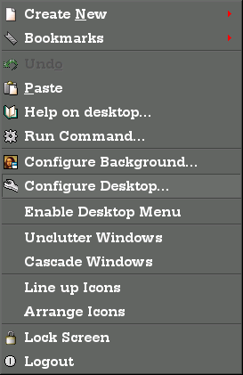 With anti-aliasing enabled, and a nice typeface chosen, the  right mouse button menu in KDE looks like this....