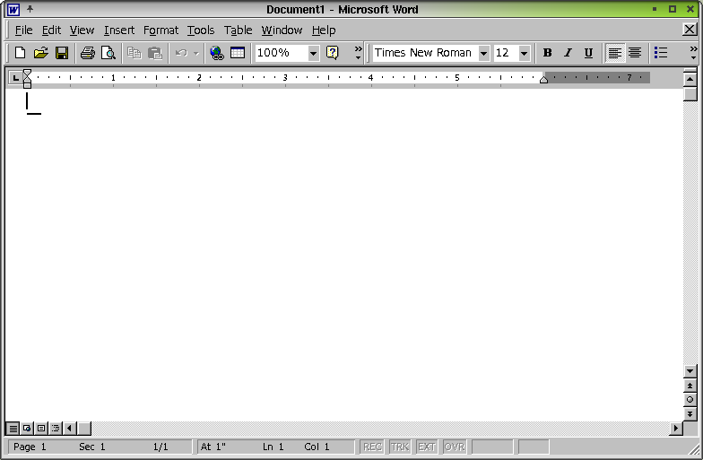 Figure 9. Microsoft Word 2000 in Linux!
