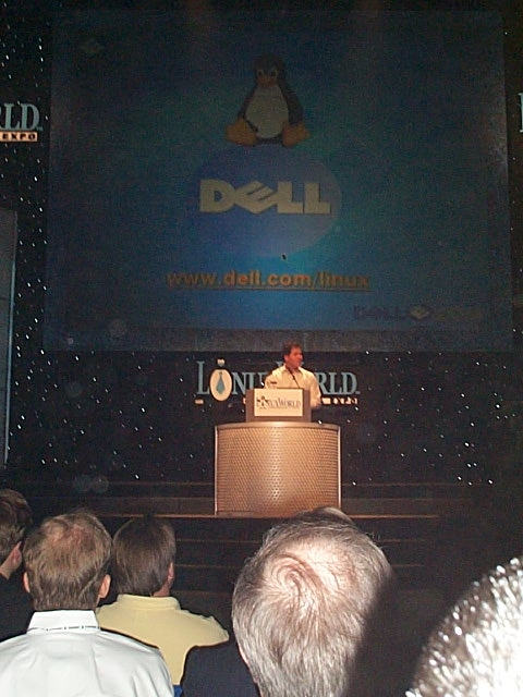 Dell Addressing the Crowd