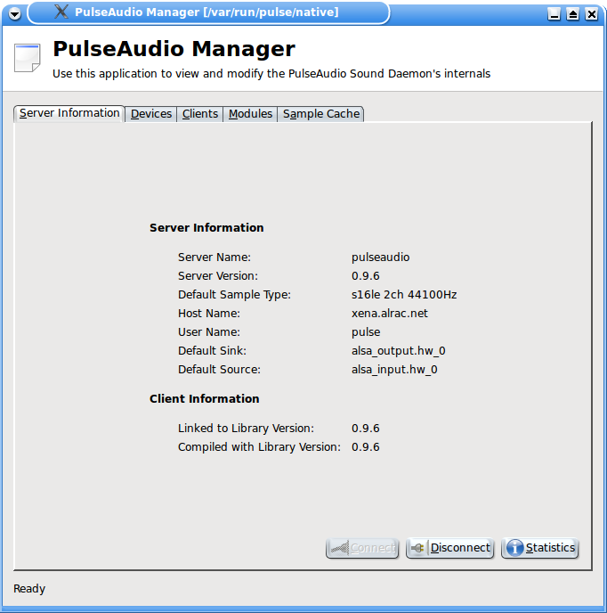 Figure 2: PulseAudio Started Correctly