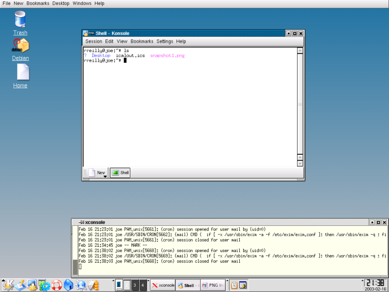 Figure 1. The KDE 3.1 Desktop.