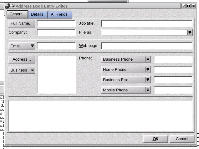 Figure 2. KAddressBook in KDE 3.0.