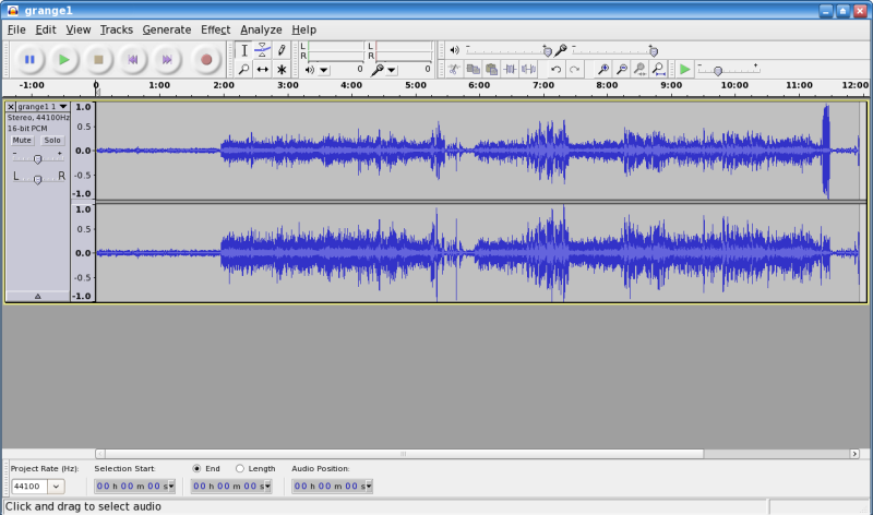 Figure 1: Editing in Audacity