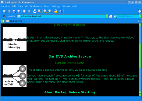 Figure 1: The dar Backup Script In Action