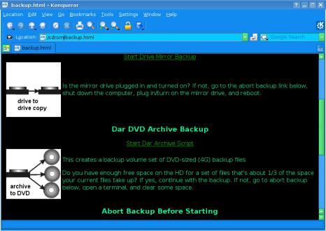 Figure 1: The dar Backup Script In Action
