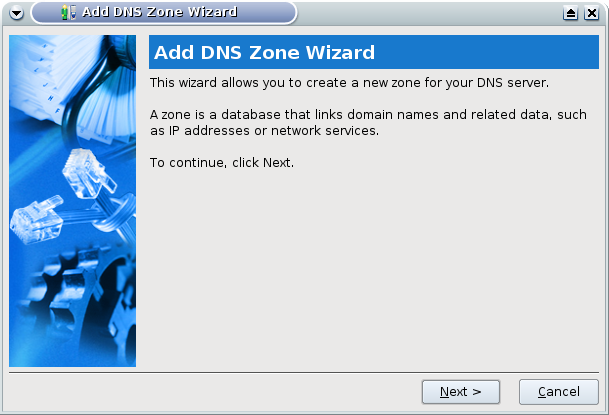 Figure 4: A Zone Wizard Helps Set Up DNS Settings.