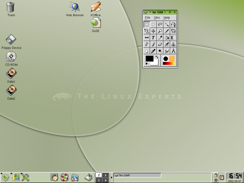 Figure 1. A user account on SuSE 7.3 in KDE 2.2.