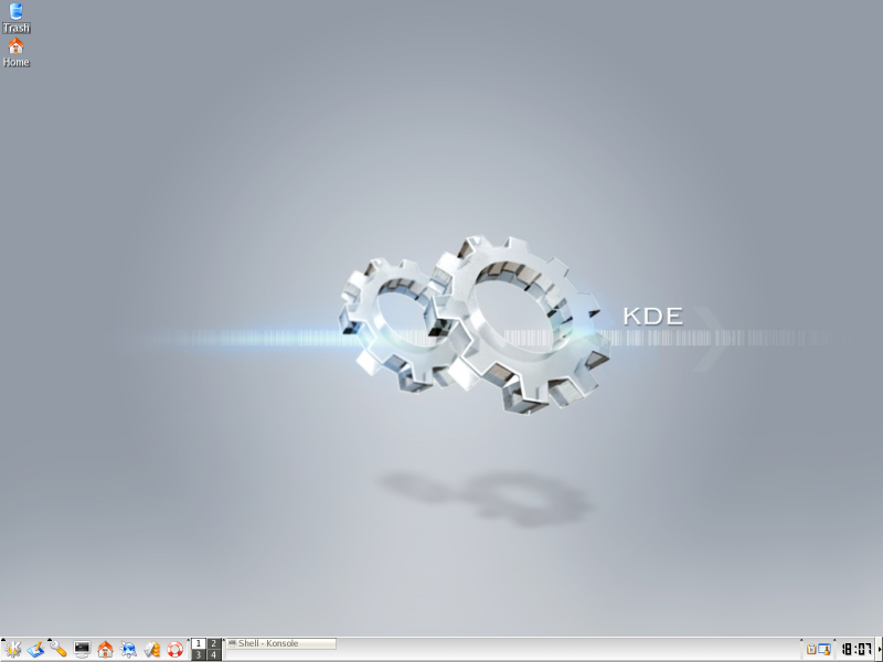 Figure 1. The Initial KDE 3.2 Screen