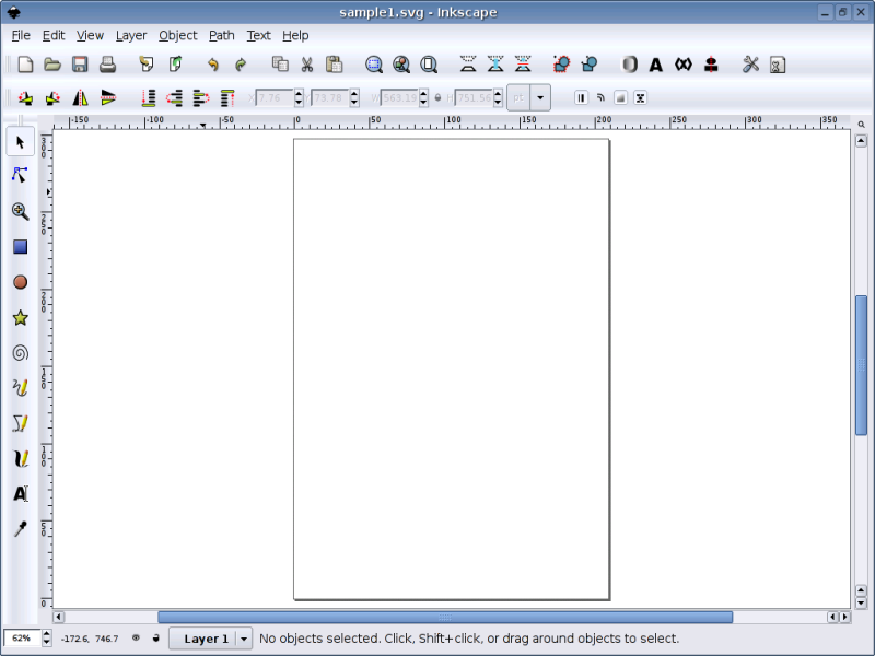 Figure 1: The Main Inkscape Screen
