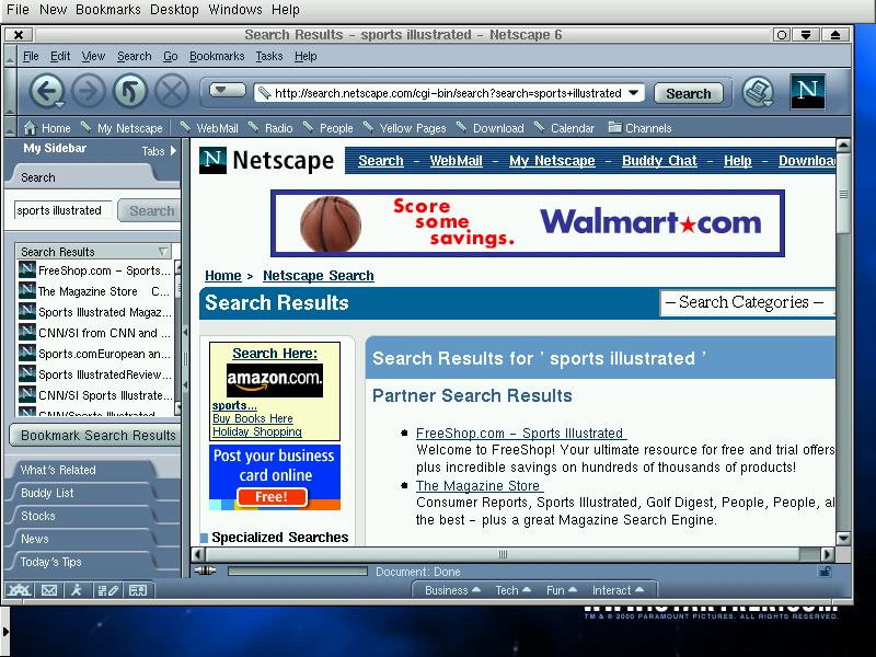 Search results are detailed, but not as great as Netscape purports.