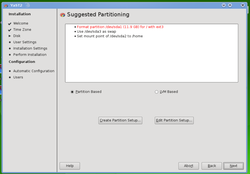 Figure 1: Disk Partitioning