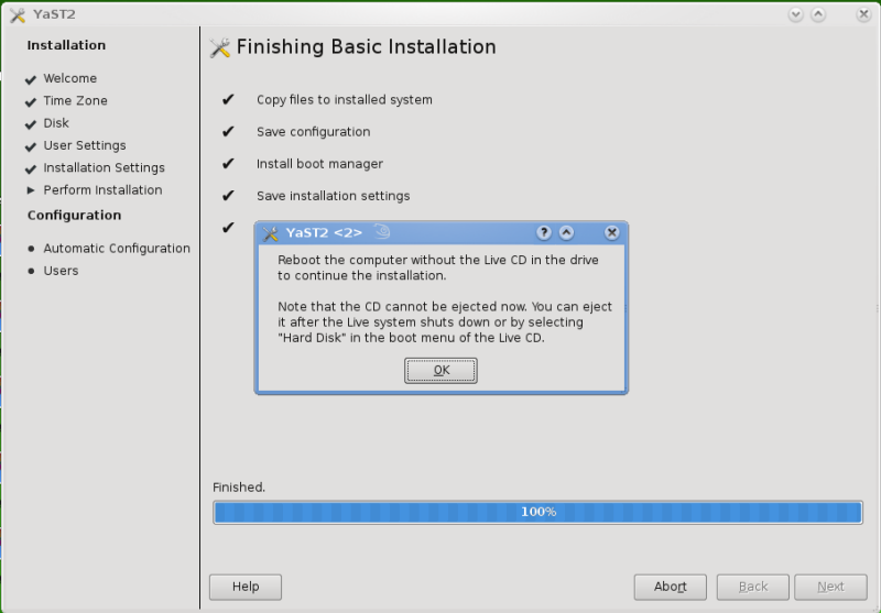 Figure 2: Install Complete
