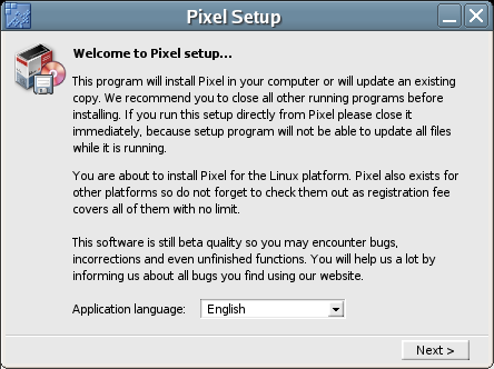 Figure 1: The Pixel Setup dialog box.