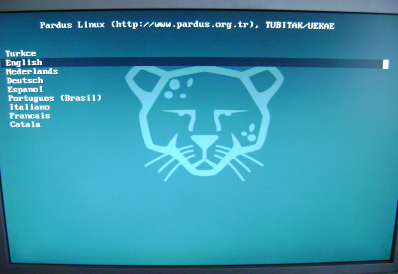 Figure 1: Booting the Pardus LiveCD
