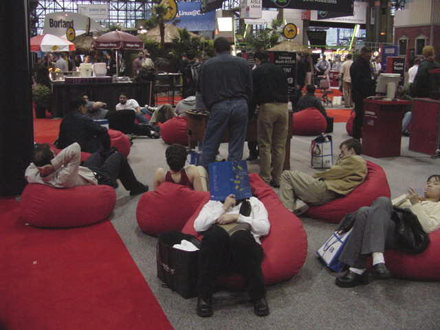 Compaq's beanbag chairs were an island of calm amid a sea of, uh, calm.
