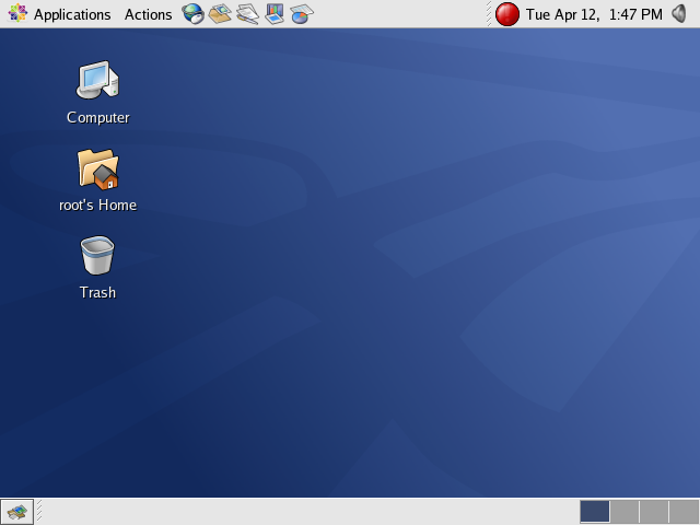 Figure 1: The CentOS 4 Desktop