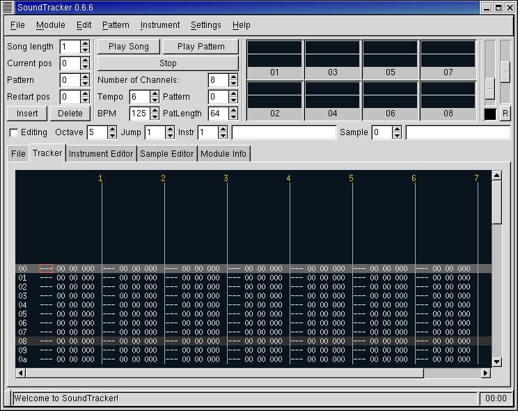 Figure 4. The Tracker tab in SoundTracker.