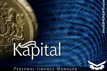 Kapital's splash screen is typical of the graphic design that's gone into the product.