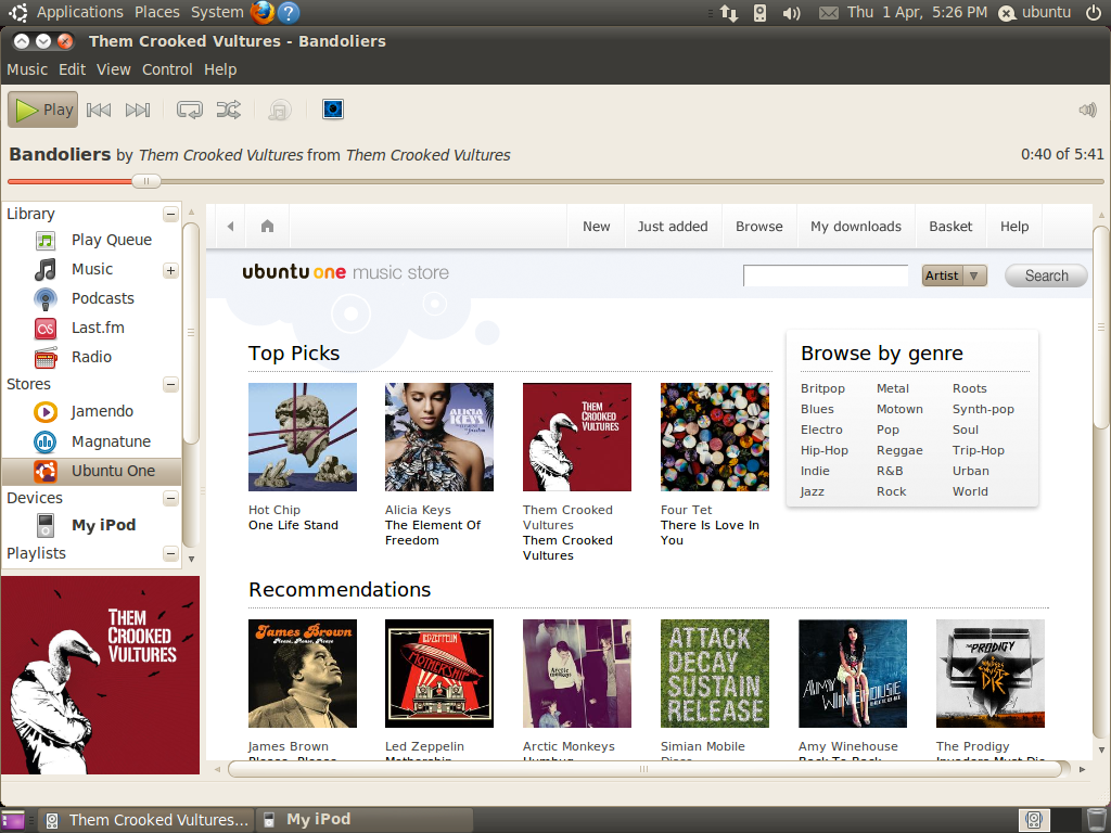 <em>Ubuntu One Music Store</em>